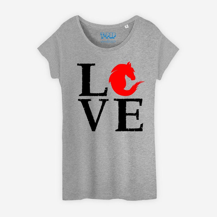 T-shirt Love cheval - Femme par T-Pop