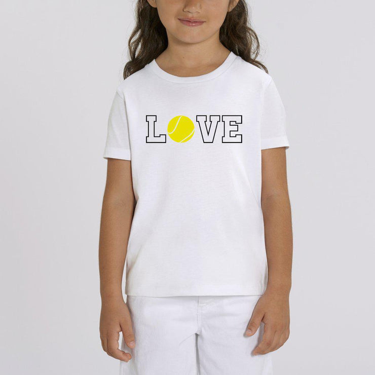 T-shirt Love tennis - Fille par T-Pop