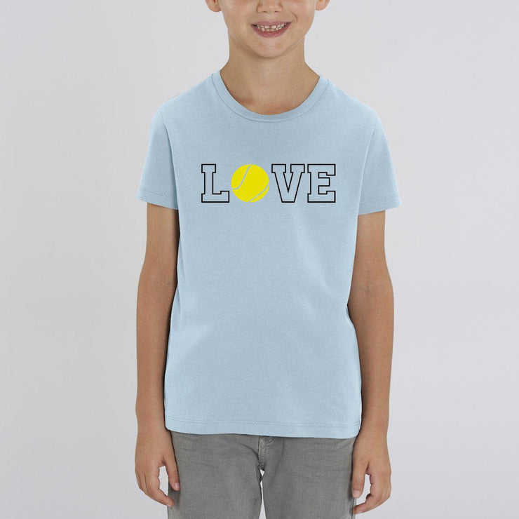 T-shirt Love tennis - Garçon par T-Pop