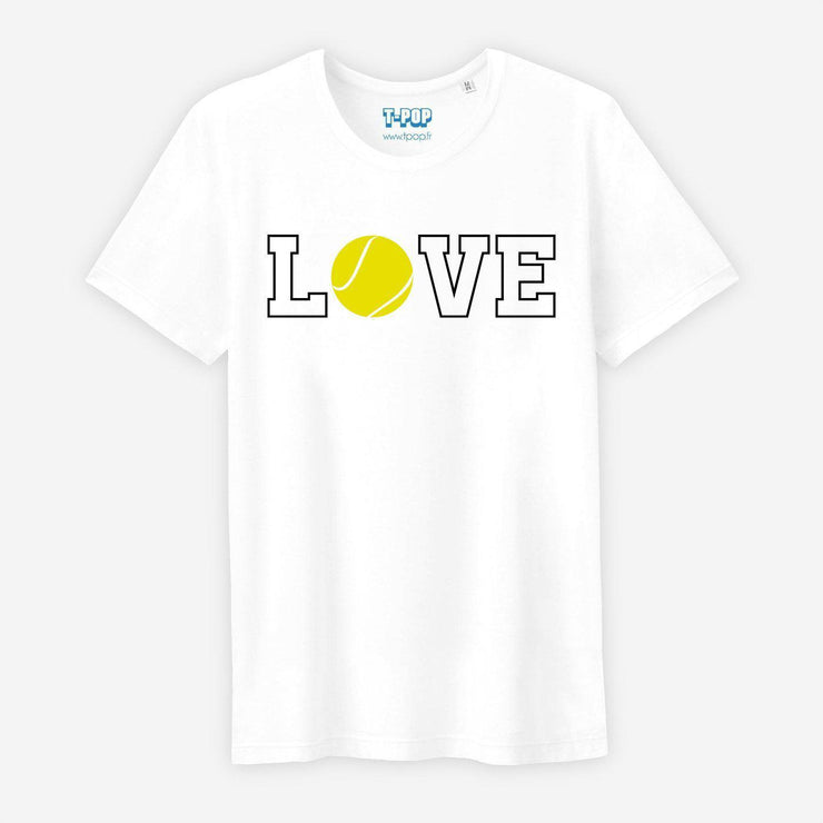 T-shirt Love tennis - Homme par T-Pop