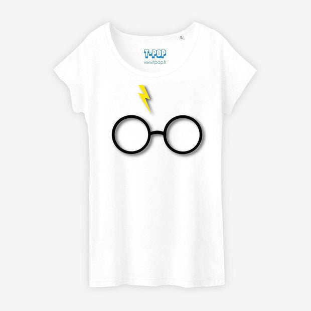 T-shirt Lunettes Harry Potter - Femme par T-Pop