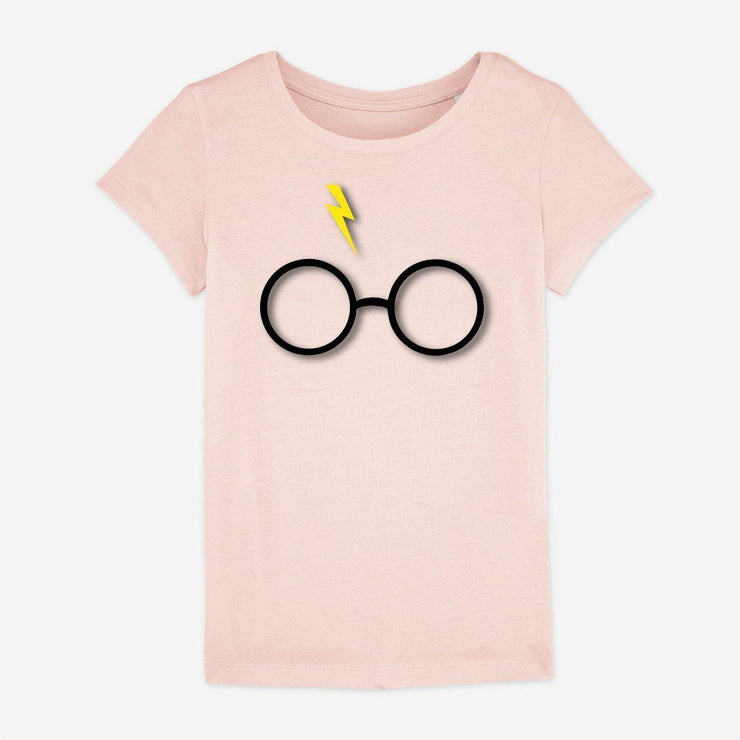 T-shirt Lunettes Harry Potter - Fille par T-Pop