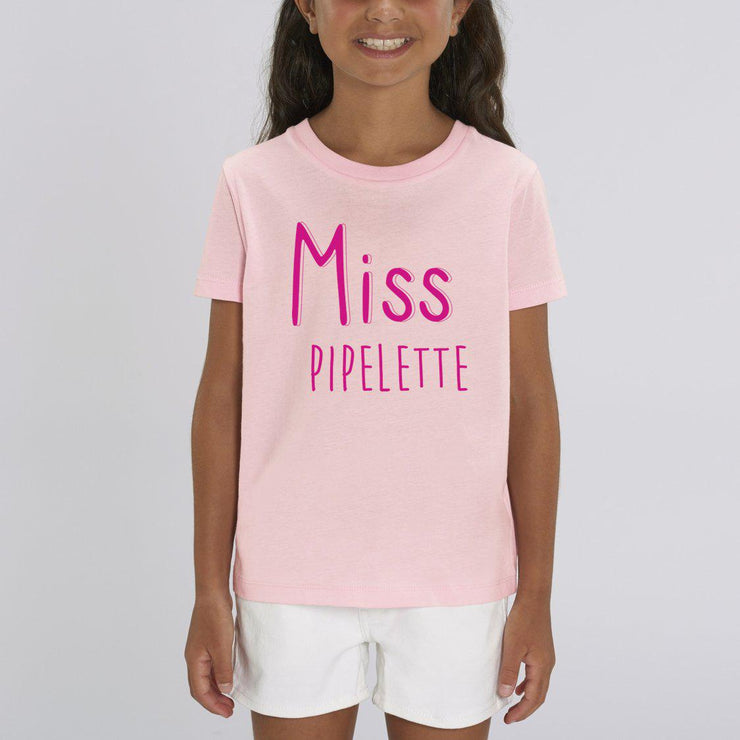 T-shirt Miss Pipelette - Fille par T-Pop
