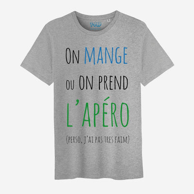 T-shirt On mange ou on prend l'apéro - Homme par T-Pop