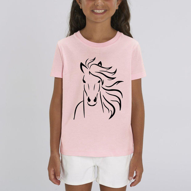 T-shirt Tête de cheval - Fille par T-Pop