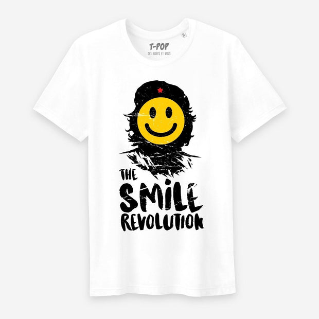 T-shirt The smile revolution - Homme par T-Pop