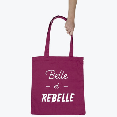 Tote bag Belle et rebelle par T-Pop