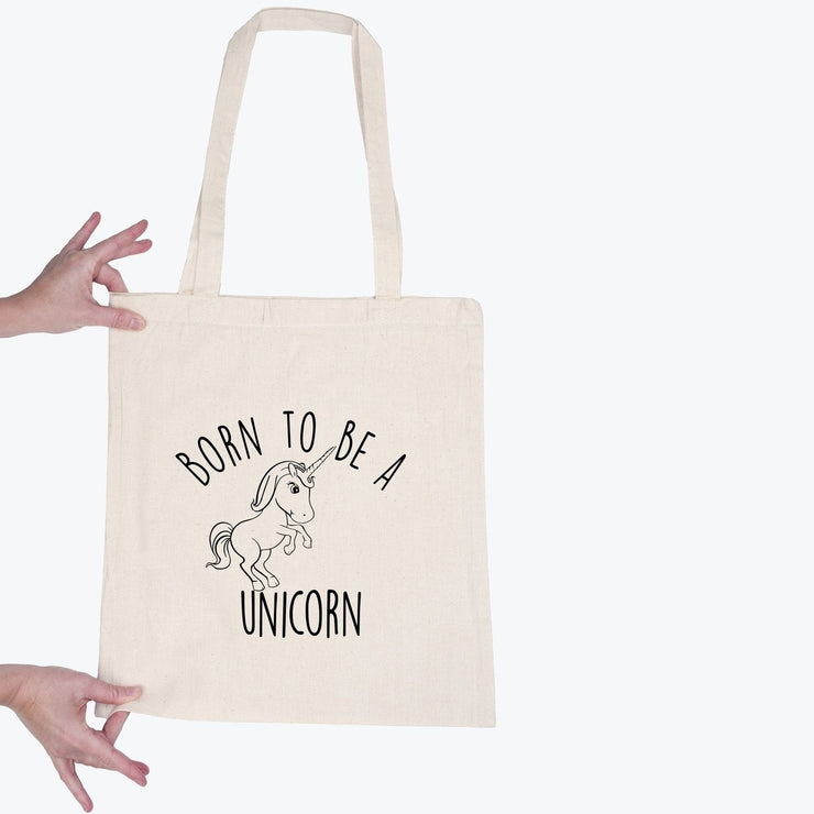 Tote bag Born to be unicorn par T-Pop