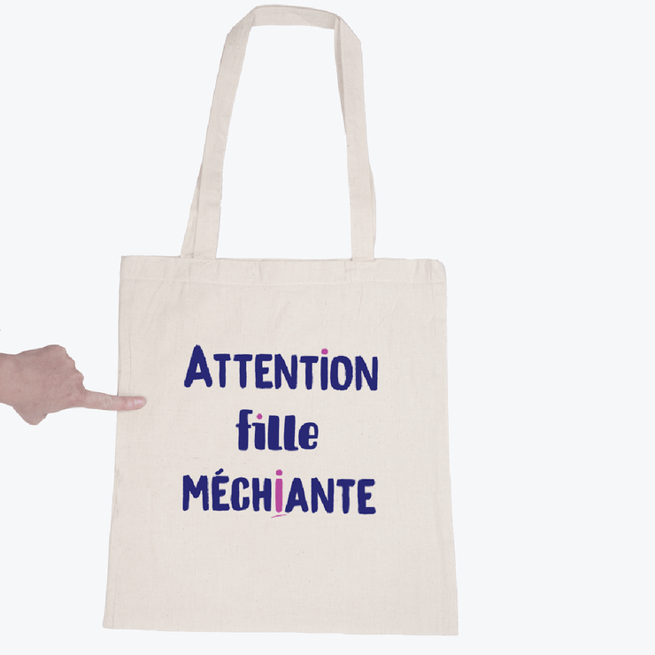 Tote bag Fille méchiante par T-Pop