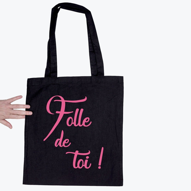 Tote bag Folle de toi par T-Pop