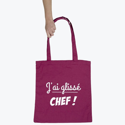 Tote bag J'ai glissé chef par T-Pop