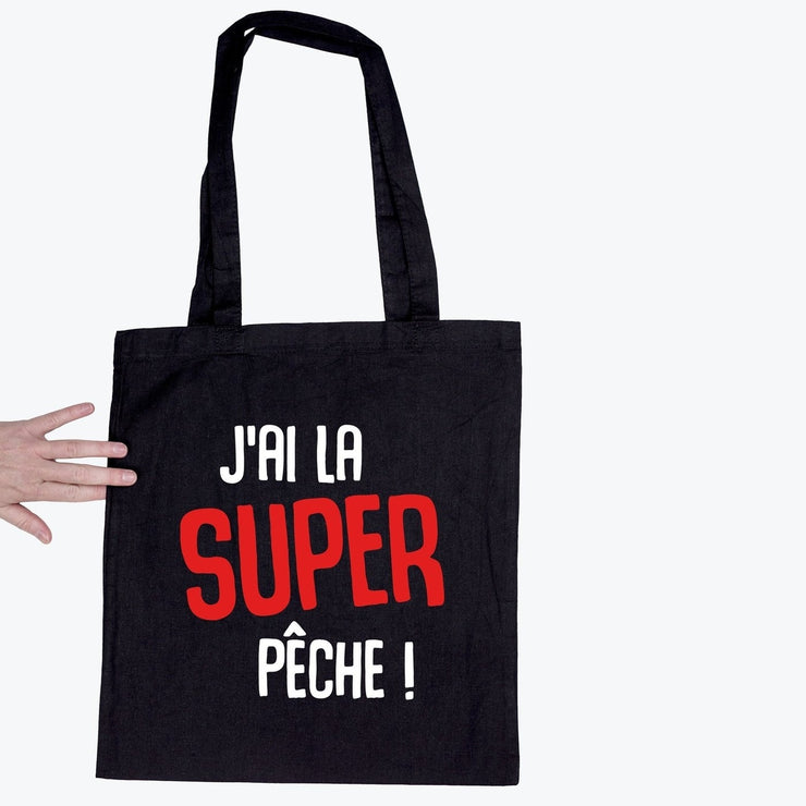Tote bag J'ai la super pêche par T-Pop
