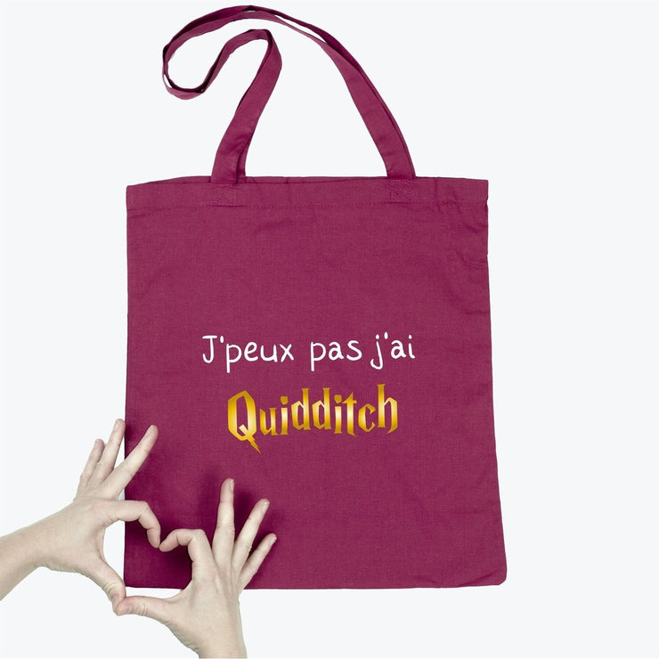 Tote bag J'peux pas j'ai Quidditch par T-Pop