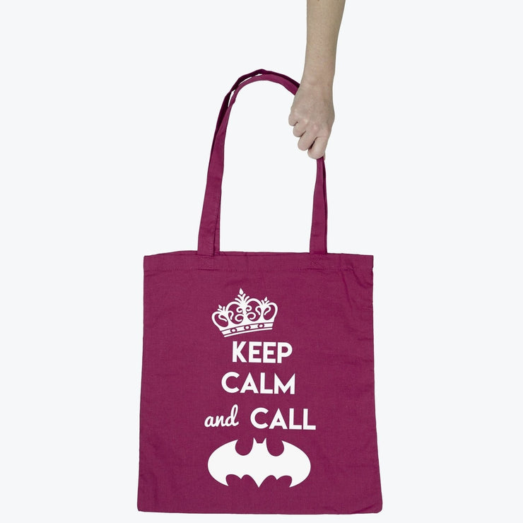 Tote bag Keep calm and call Batman par T-Pop