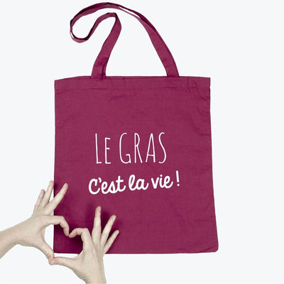 Tote bag Le gras par T-Pop