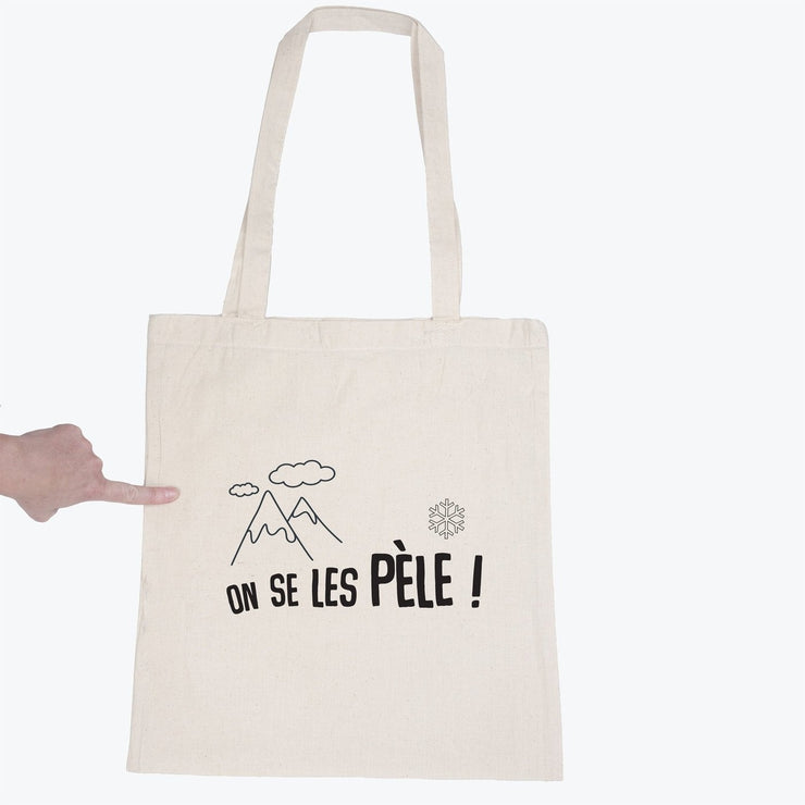 Tote bag On se les pèle par T-Pop