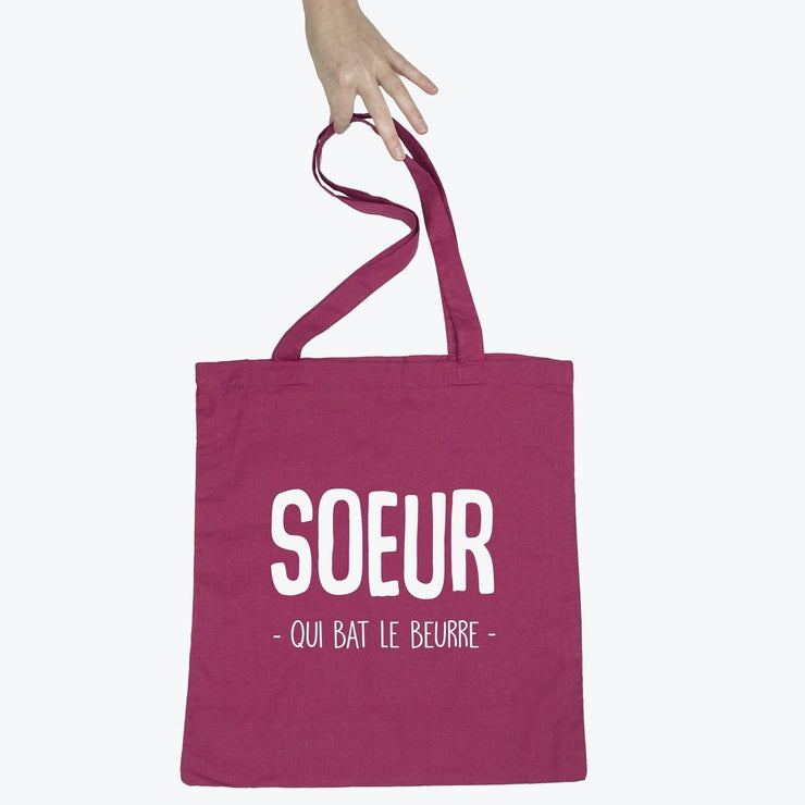 Tote bag Soeur qui bat le beurre par T-Pop