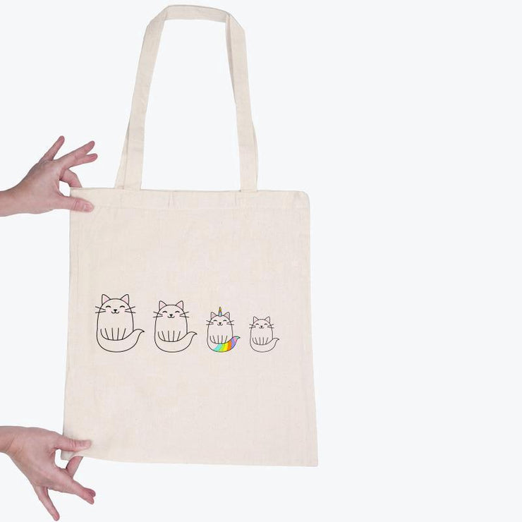Totebag Chats licorne par T-Pop