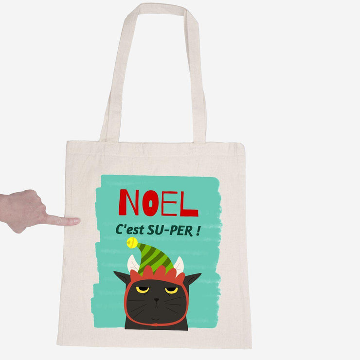 Totebag NOEL c'est super par T-Pop