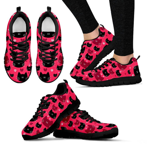 Pink Bubble Gum Cat Sneakers - Stubborn Cat