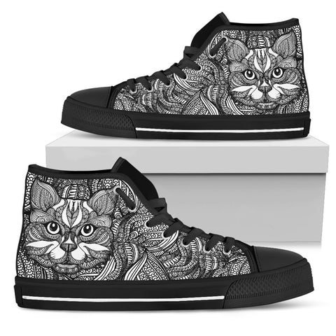 Zen Cat High Top Shoes - Stubborn Cat