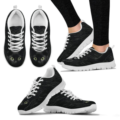 Black Cat Sneakers - Stubborn Cat