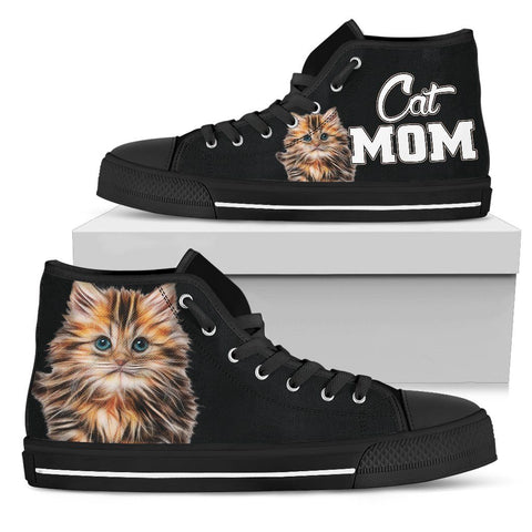 Cat Mom High Top Shoes - Stubborn Cat
