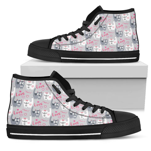 Love Meow High Top Shoes - Stubborn Cat