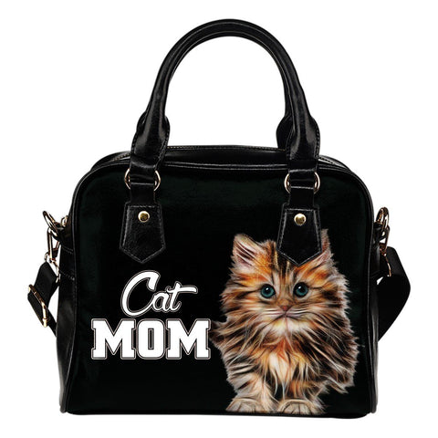 Cat Mom Shoulder Handbag - Stubborn Cat