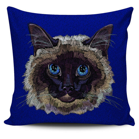 Colorful Siamese Cat Pillow Cover - Stubborn Cat