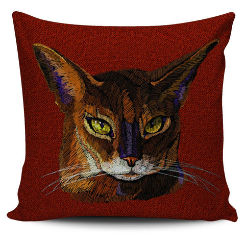 Colorful Abyssinian Cat Pillow Cover - Stubborn Cat