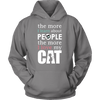 The More I Learn Cat Hoodie - Stubborn Cat