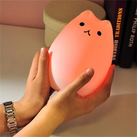 Cute Color Changing Cat Touch Lamp - Stubborn Cat