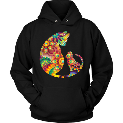 Colorful Mother Cat Hoodie