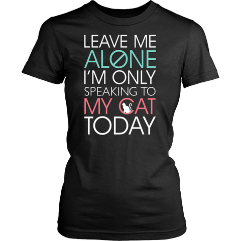 Leave Me Alone Cat Tee - Stubborn Cat