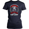 Never Underestimate A Nurse Who Is A Cat Lady Tee - Stubborn Cat