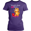 World's Best Cat Mom Tee - Stubborn Cat