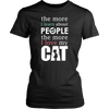 The More I Learn Cat Tee - Stubborn Cat