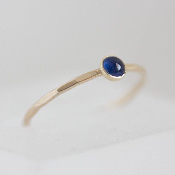Sapphire ring  in gold - skinny stackable ring with Sapphire stone, September birthstone, sterling silver, 9k gold