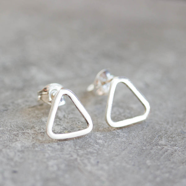 Sterling silver stud earrings - minimal, simple every day earrings