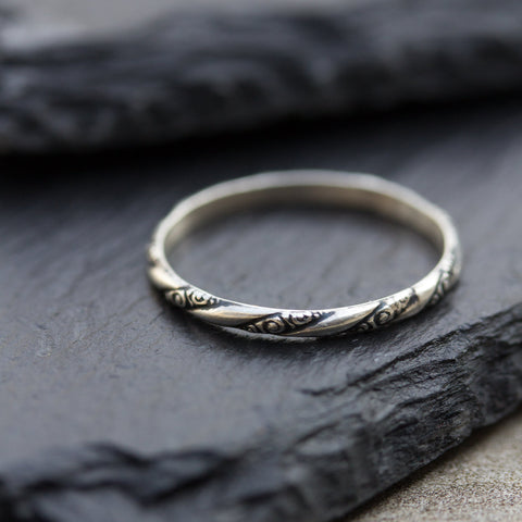 Marta ring - sterling silver, stackable