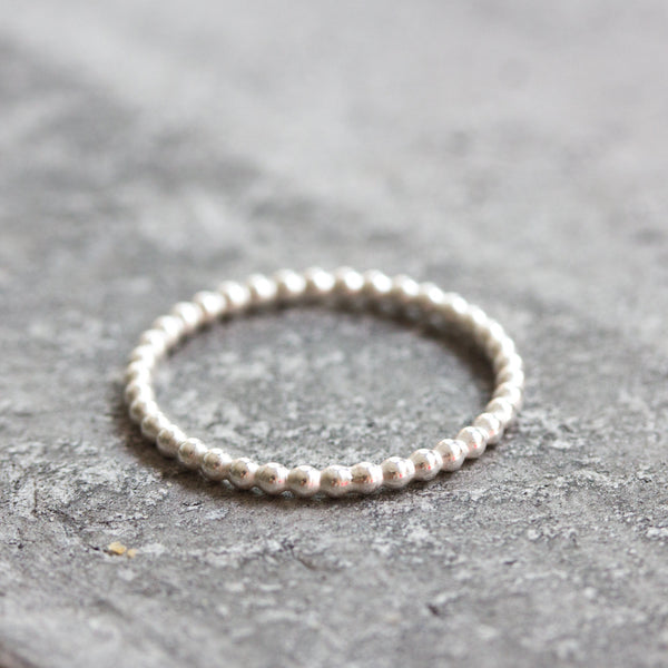 Dots - stacking ring, Sterling silver stackable ring