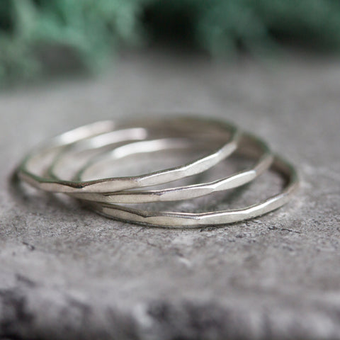 Skinny - sterling silver stacking ring, tiny stackable ring