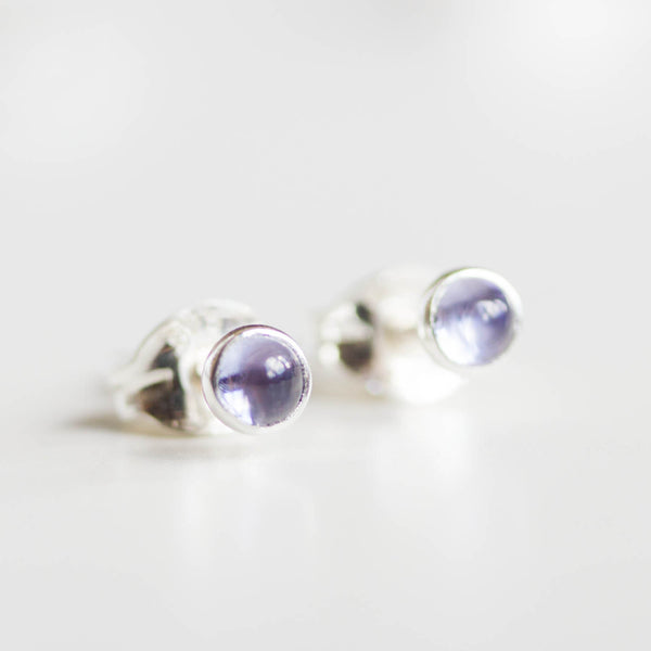 Tanzanite stud earrings, sterling silver or 14K gold filled, dainty earrings