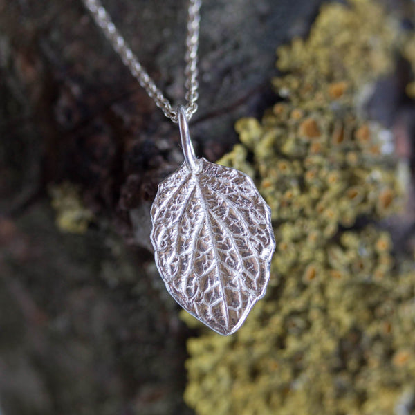 Leaf necklace - fine silver leaf, realistic, dainty leaf necklace, Nature inspired