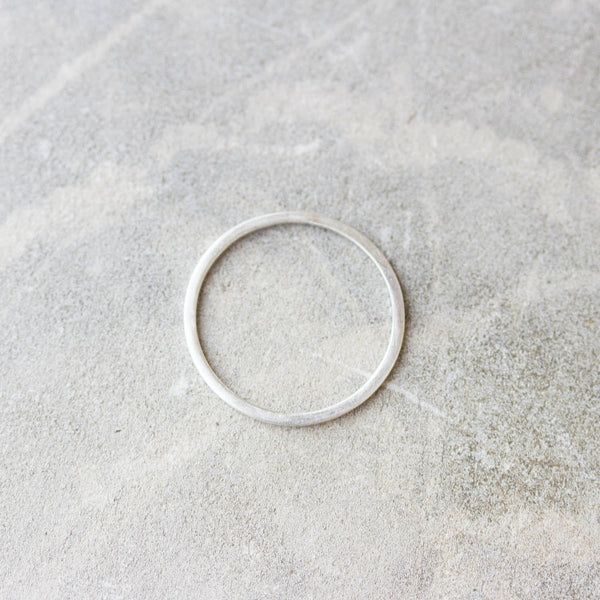 Simple stacking ring - sterling silver