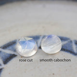 Rainbow Moonstone - skinny stackable ring with Rainbow Moonstone, June birthstone