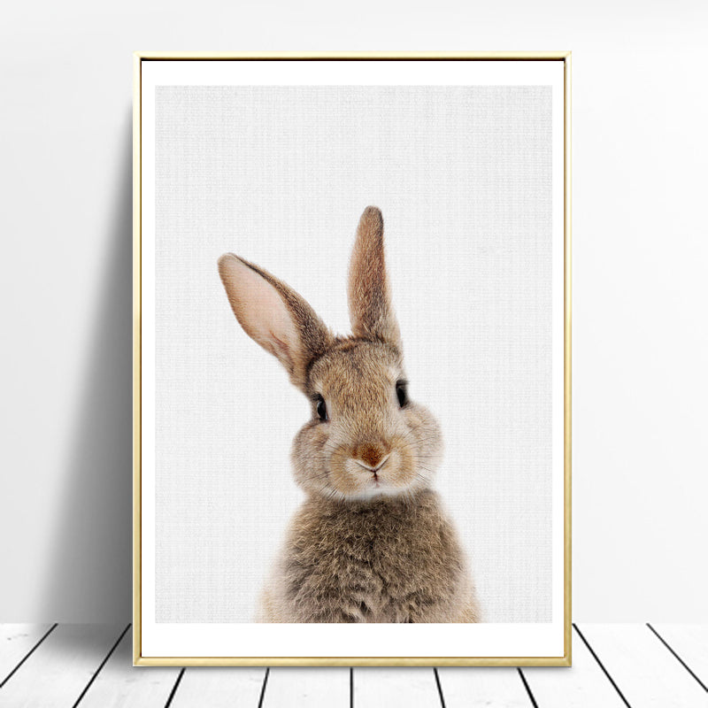 Rabbit In and Out Wall Art Canvas - Nice & Cool