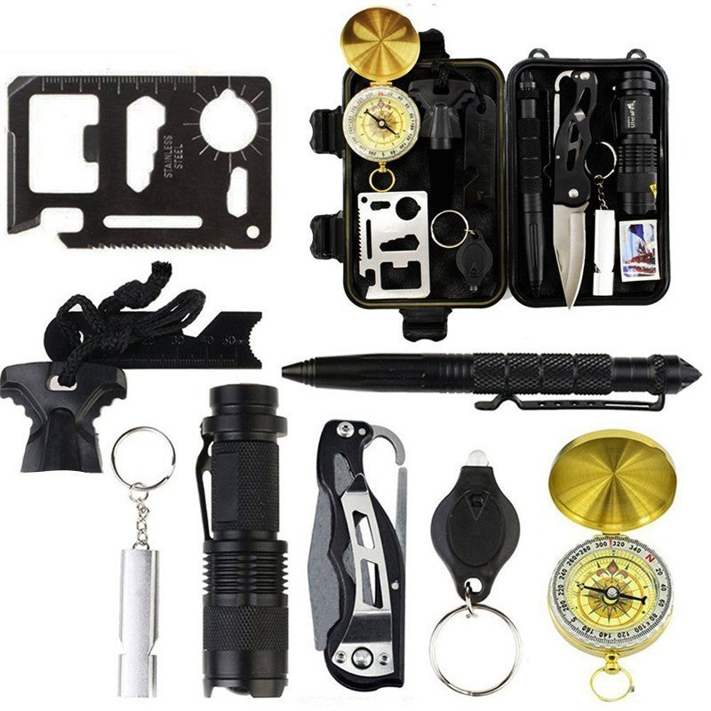 Emergency 10-in-1 Outdoor Survival Gear Kit - Nice & Cool