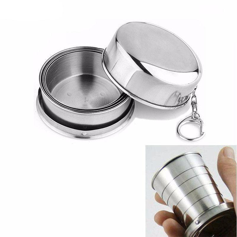 Stainless Steel Outdoor Folding Cup - Nice & Cool